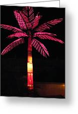 Electric Palm Greeting Card