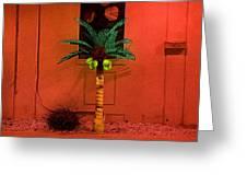 Electric Palm Tree Greeting Card