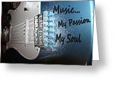 Electric Passion And Soul  Greeting Card