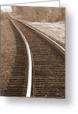 Electric Rails Greeting Card