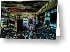 Electric Shock On Abandoned Hotel On Liguria Mountains - Pericolo Di Scossa Nell'hotel Abbandonato Greeting Card