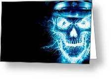 Electric Skull Greeting Card