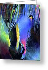 electric Stallion horse painting Greeting Card by Svetlana Novikova