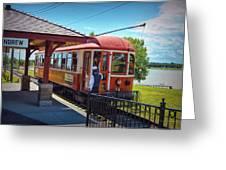 Electric Streetcar Greeting Card