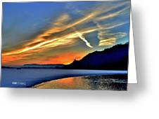 Electric Sunrise Greeting Card