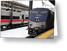 Electric Trains At Union Station Greeting Card