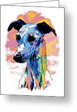 Electric Whippet Greeting Card