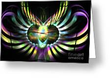 Electric Wings Greeting Card