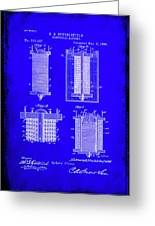 Electrical Battery Patent Drawing 1e Greeting Card