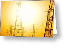 Electricity Towers Greeting Card