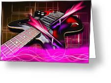 Electro Guitar Greeting Card