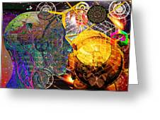 Electromagnetic Lighthouse Thirdeye Portal Greeting Card by Joseph Mosley
