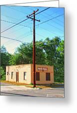 Electromagnetic Motel Greeting Card
