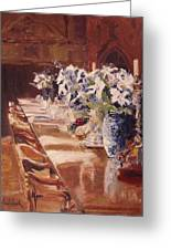 Elegant Dining At Hearst Castle Greeting Card