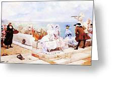 Elegant Figures Watching The Regatta Greeting Card