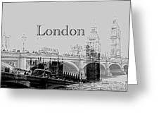 Elegant London Greeting Card