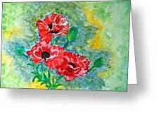 Elegant Poppies Greeting Card