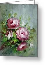 Elegant Roses Greeting Card