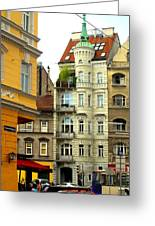 Elegant Vienna Apartment Building Greeting Card