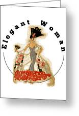 Elegant Woman Greeting Card