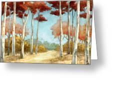 Elegantredforest Greeting Card