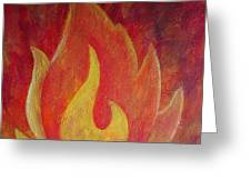Element Of Fire Greeting Card