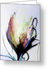 Elemental In Color Abstract Painting Greeting Card