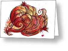 Elements Of Fire Greeting Card