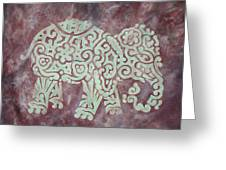 Elephant - Animal Series Greeting Card by Jennifer Kelly