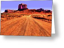 Elephant Butte Monument Valley Navajo Tribal Park Greeting Card