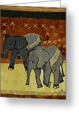 Elephant Calves Greeting Card