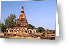 Elephant Chedi Historical Place Greeting Card
