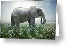 Elephant Eating Onions Greeting Card