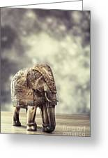 Elephant Figure Greeting Card