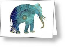 Elephant Maps Greeting Card