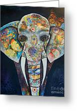 Elephant Mixed Media 2 Greeting Card