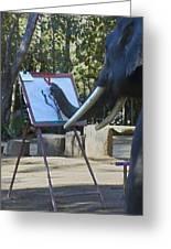 Elephant Painting Greeting Card
