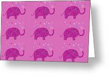 Elephant Pattern Greeting Card