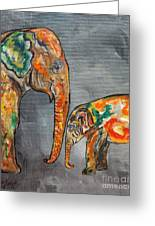 Elephant Play Day Greeting Card