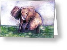 Elephant Poised Greeting Card