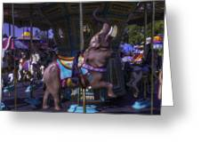 Elephant Ride At The Fair Greeting Card