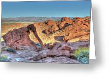 Elephant Rock - Hdr - Valley Of Fire Greeting Card