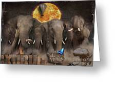 Elephant Run Greeting Card