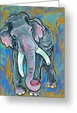 Elephant Spirit Dreams Greeting Card by Jenn Cunningham