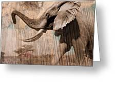 Elephant Visions Wall Art Greeting Card