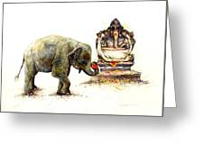 Elephant With Ganesha Greeting Card