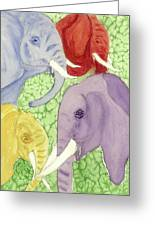 Elephants In The Room Greeting Card
