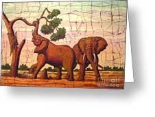 Elephants View Greeting Card