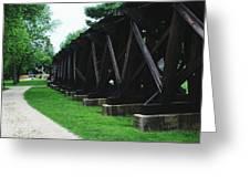 Elevated Railroad Greeting Card