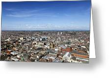 Elevated View Of Blackpool Greeting Card